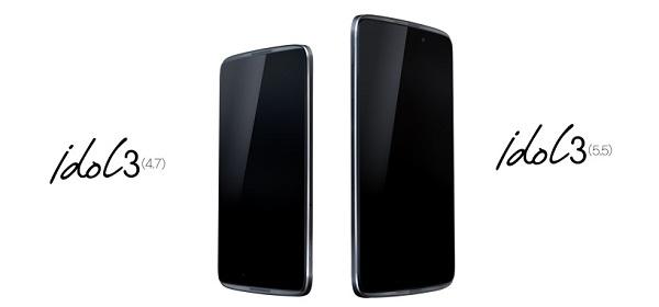 IDOL 3, el smartphone reversible