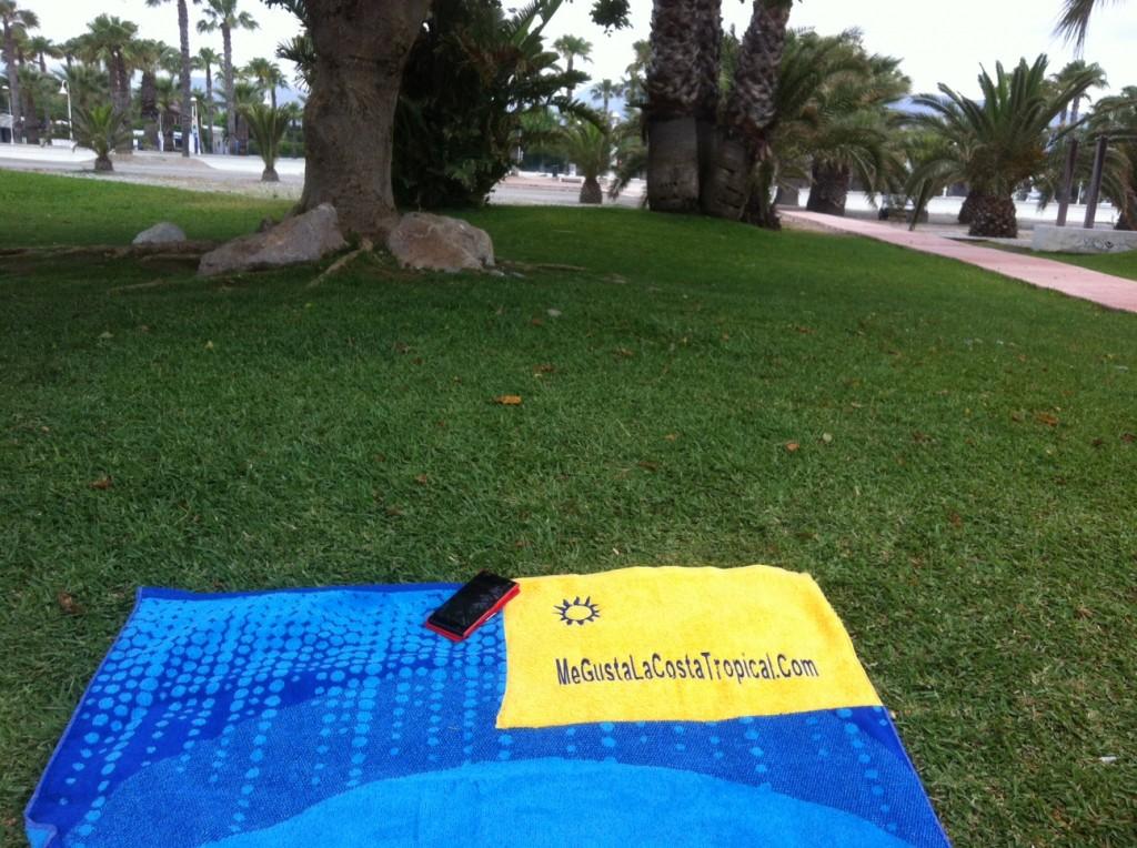 Creada una toalla de playa para conectarse a Facebook