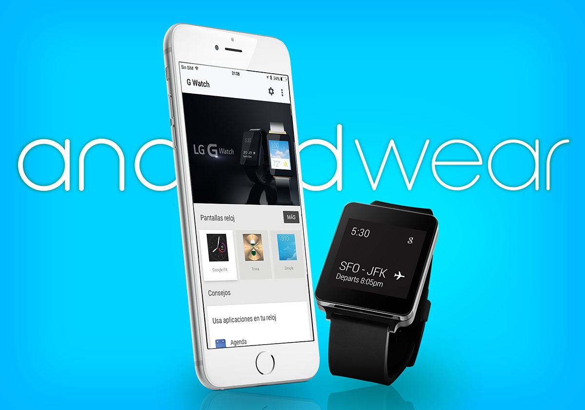 LG G Watch Android wear iPhone