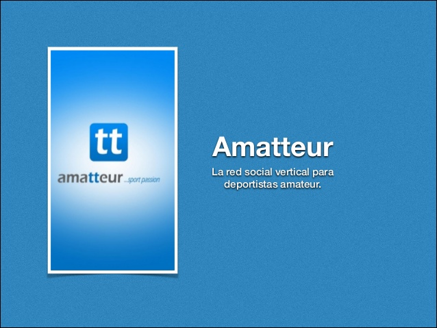 Amatteur, una red social para los amantes del deporte