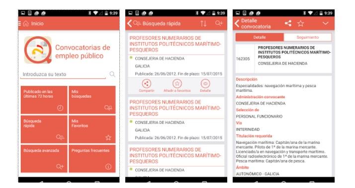 Empleo público, la nueva app laboral