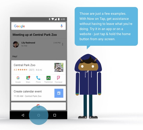 Android 6 Now on Tap
