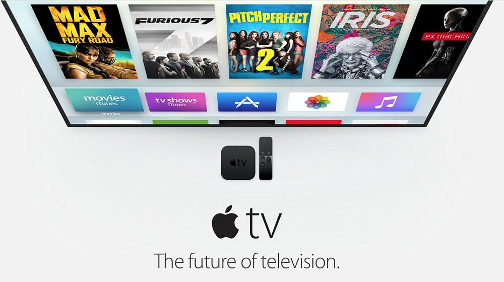 Apple TV con tele