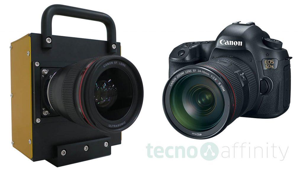 Camera prototype with CMOS 250 MP y EOS 5Ds
