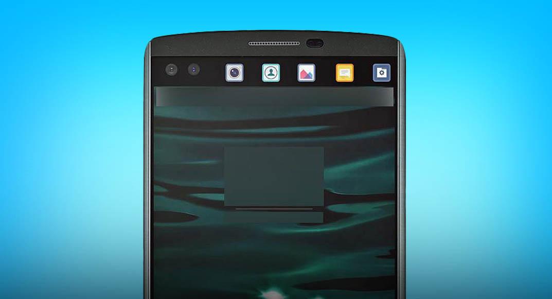 LG V10 frontal nuevo apertura