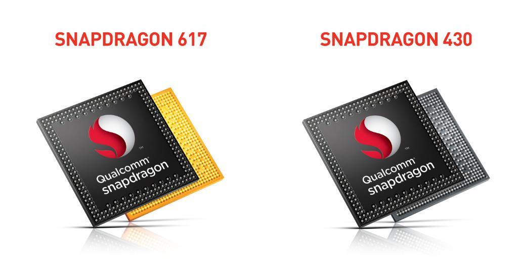 Qualcomm Snapdragon 617 y 430