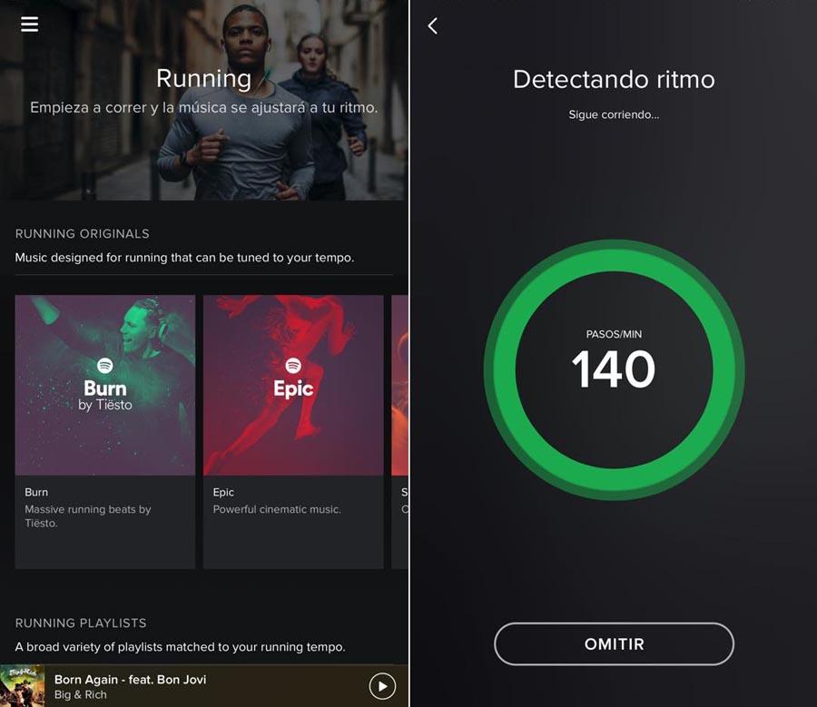 Spotify Running apertura