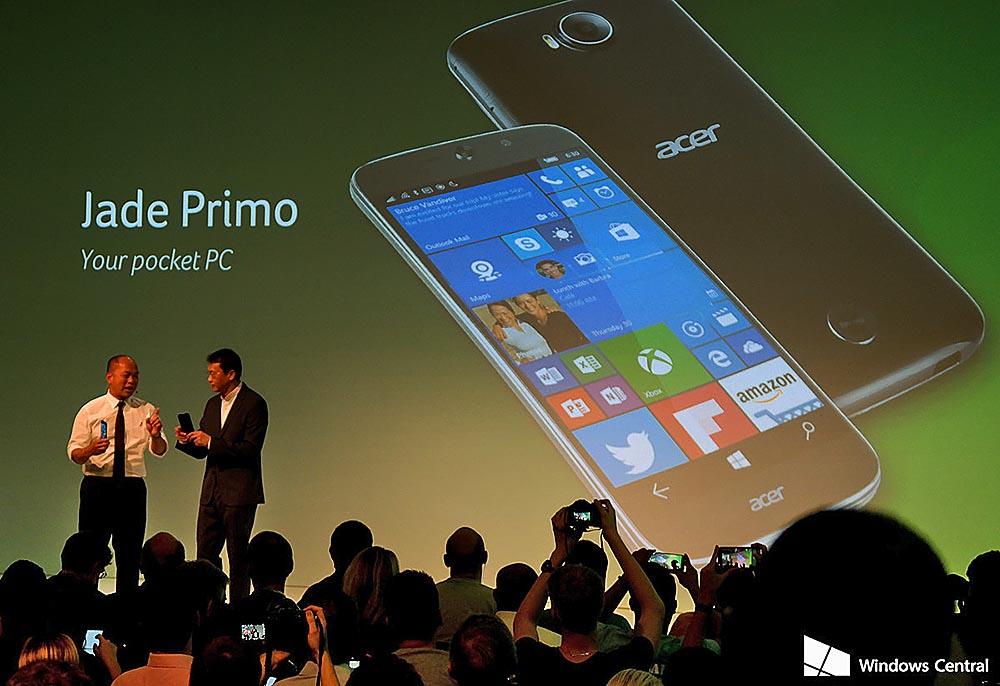 Acer Jade Primo, el primer PC+Smartphone con Windows 10