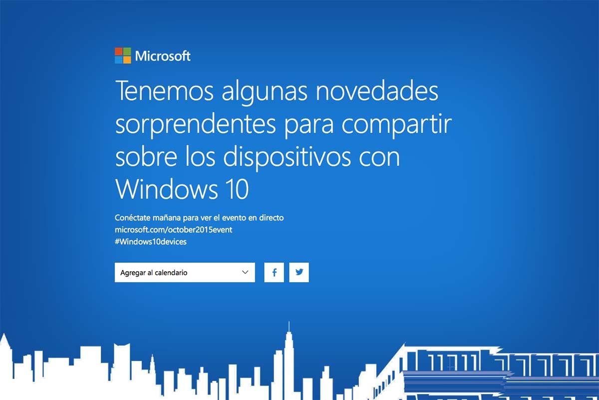 Captura de pantalla evento Microsoft