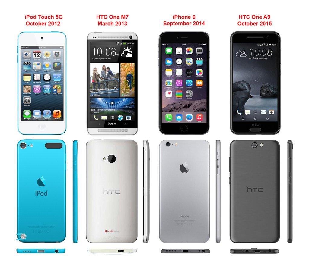 HTC-and-Apple-design-comparisons