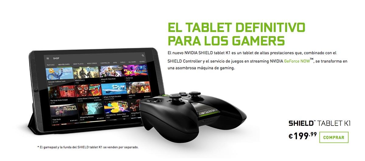 Captura Nvidia Shield Tablet k1