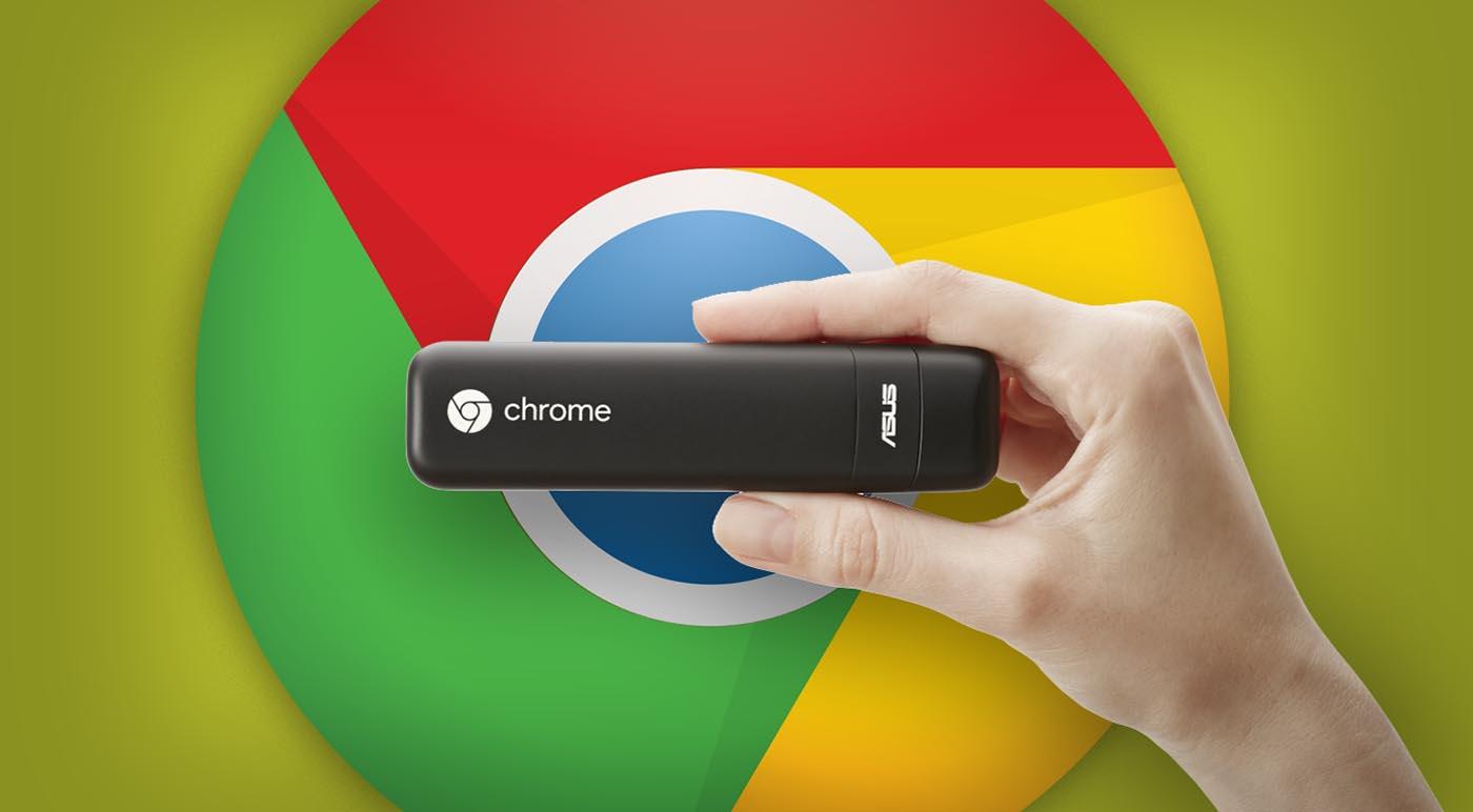 Chrome OS con chromebook tipo dongle