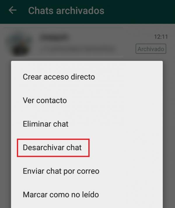 Desarchivar WhatsApp 1