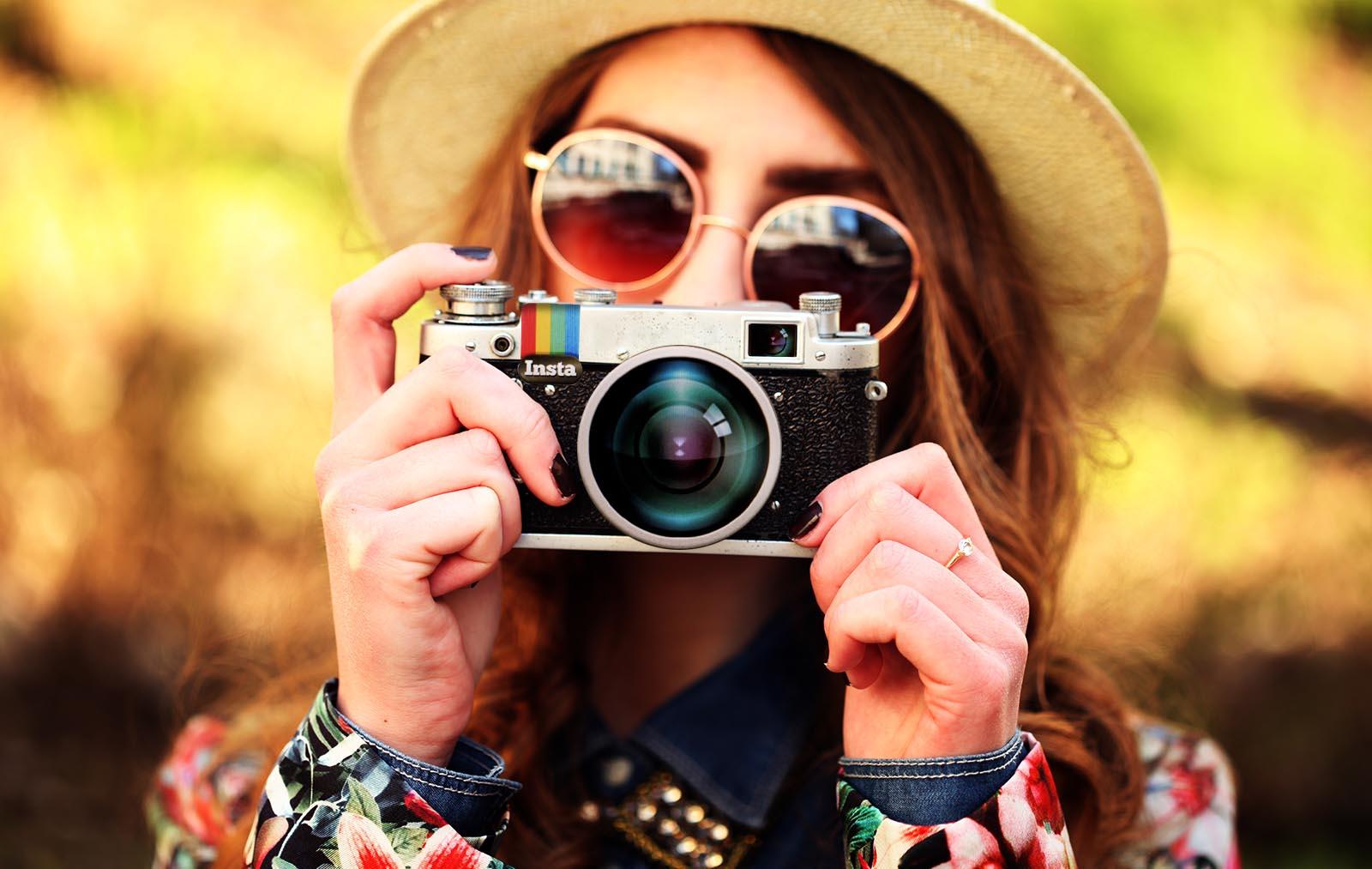 Instagram chica camara