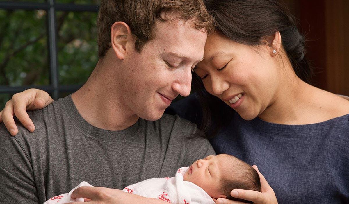 Mark Zuckerberg esposa e hija