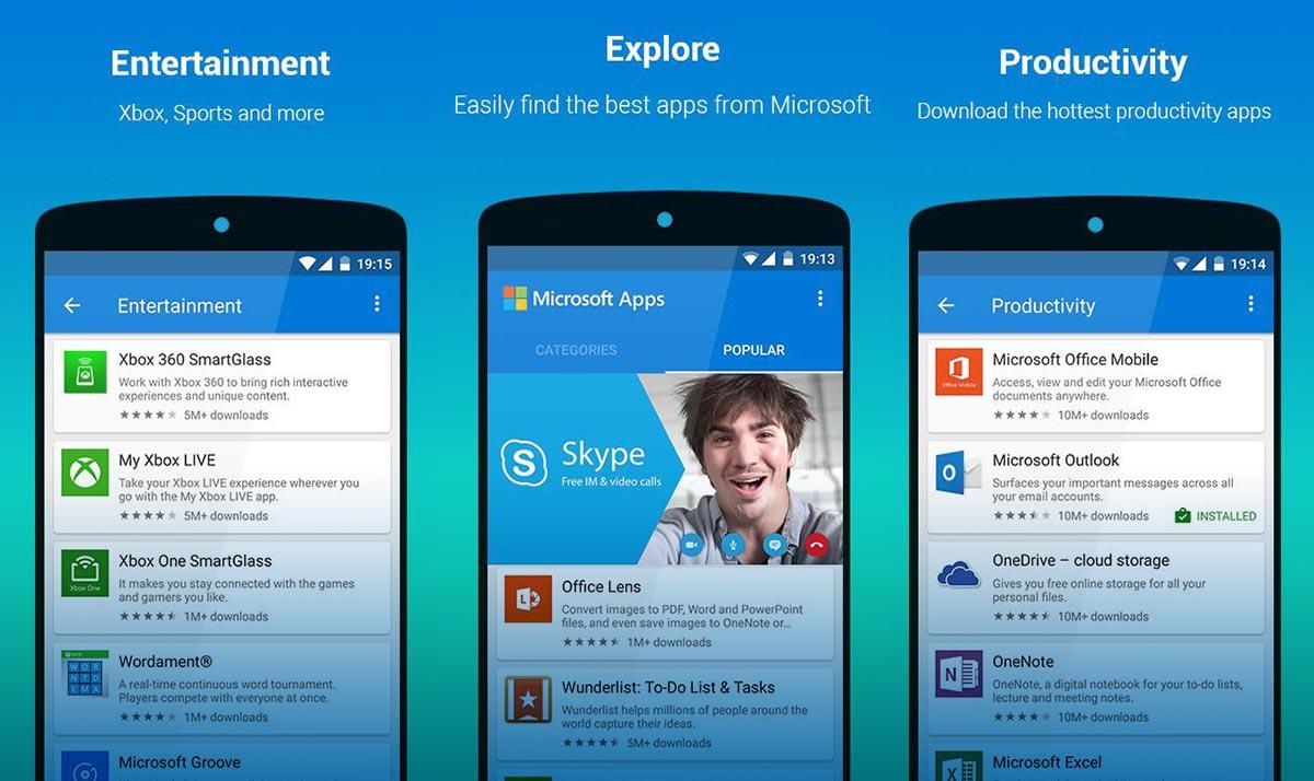 Microsoft Apps Apertura