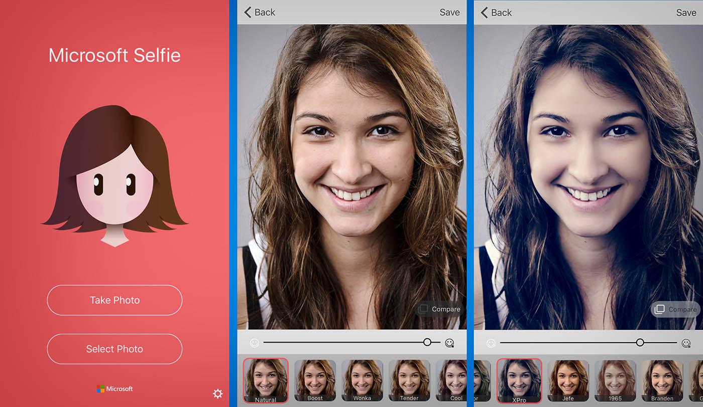 Microsoft Selfie Apertura