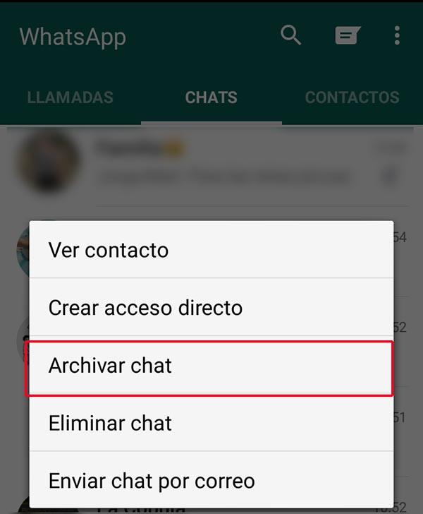 Ocultar WhatsApp 1