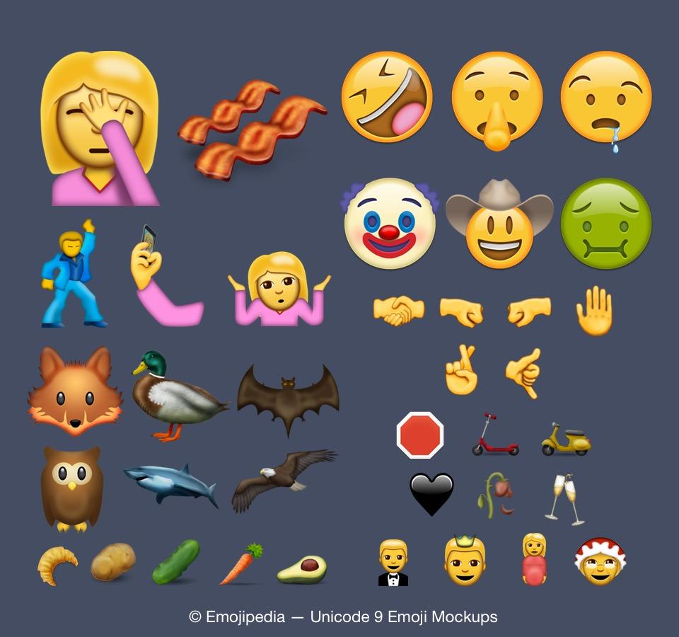 Emoji Unicode 9-08
