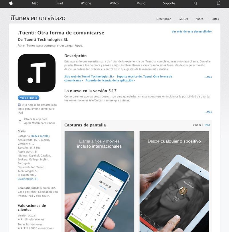 App Tuenti iOS