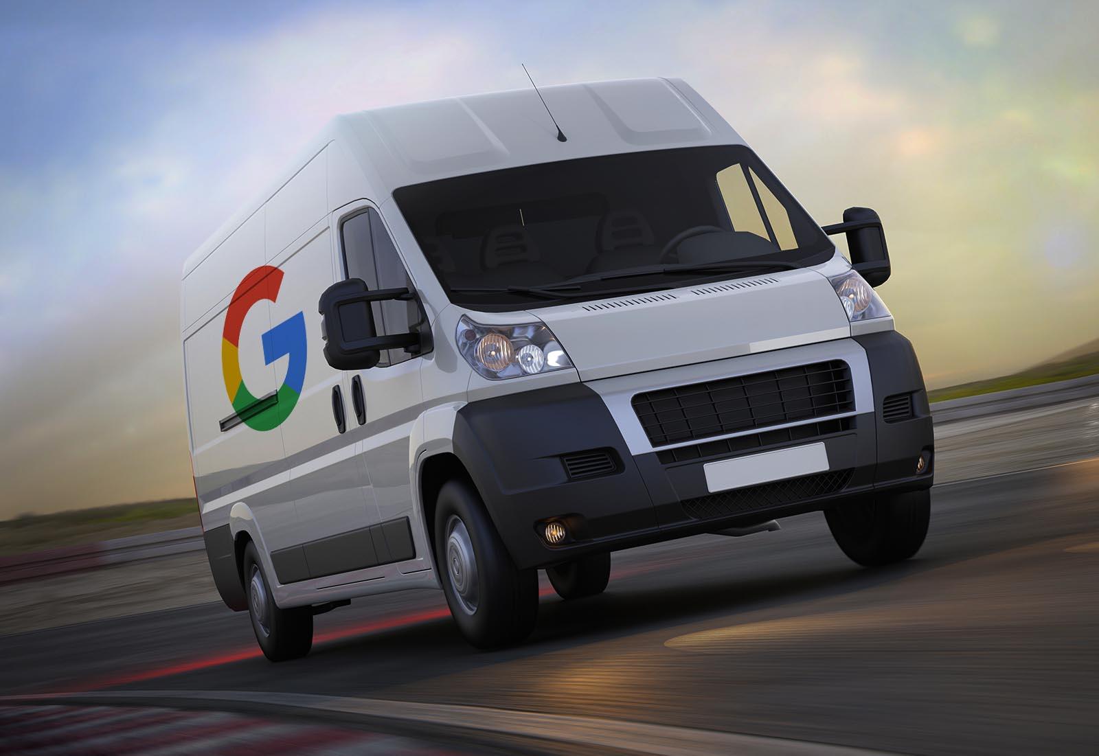 Furgoneta reparto Google