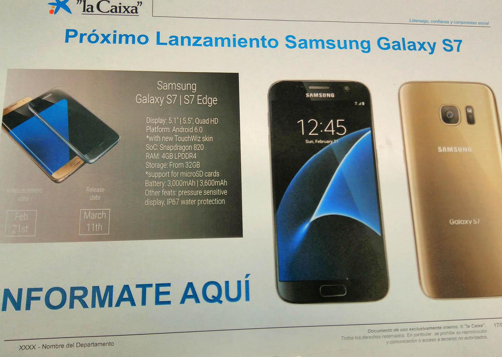 Galaxy S7 ultima filtracion