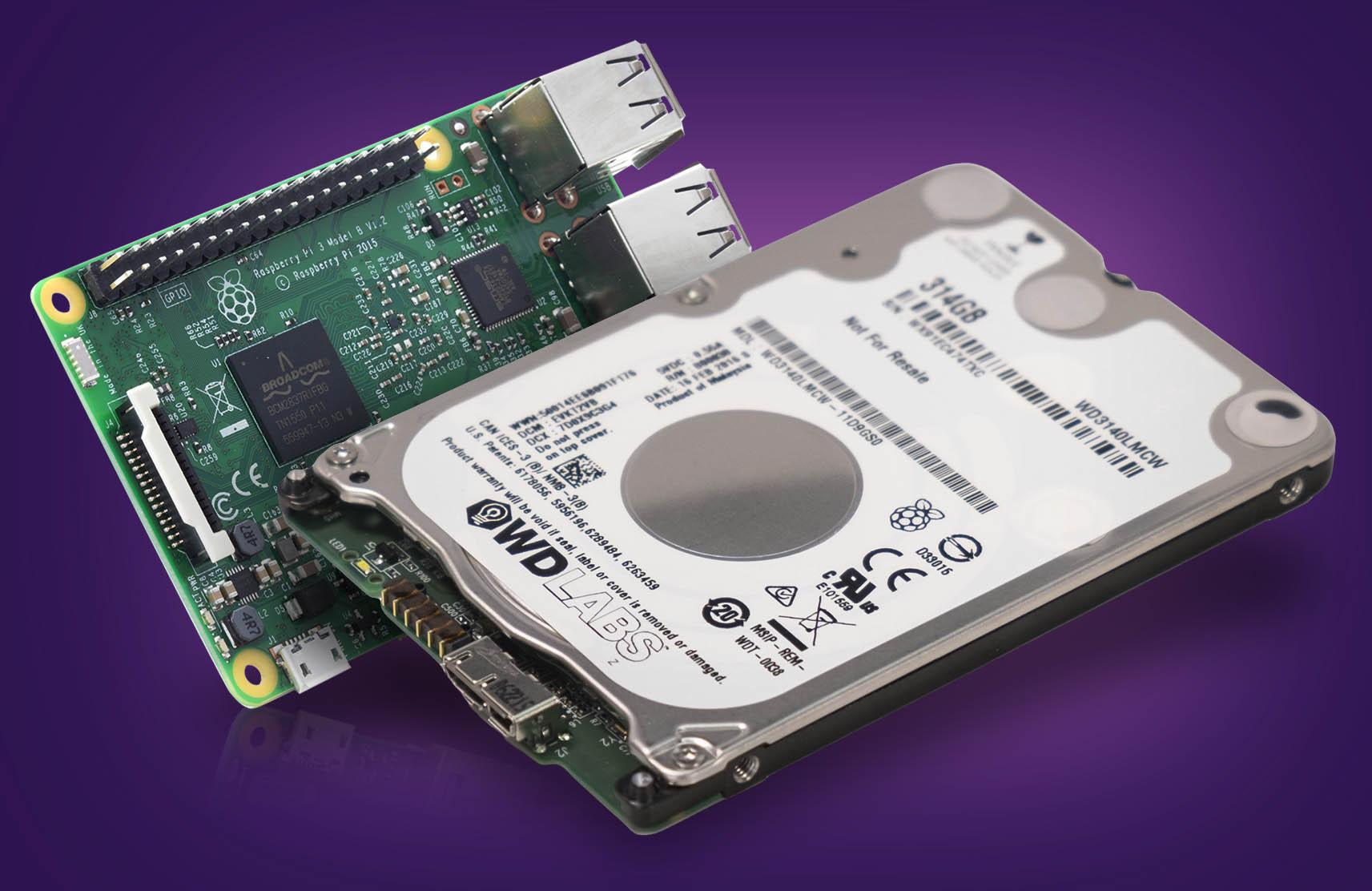 Disco WD PiDrive Raspberry Pi 3