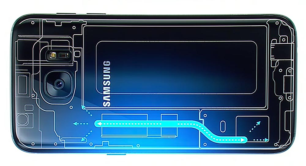 Galaxy S7 tubo calor
