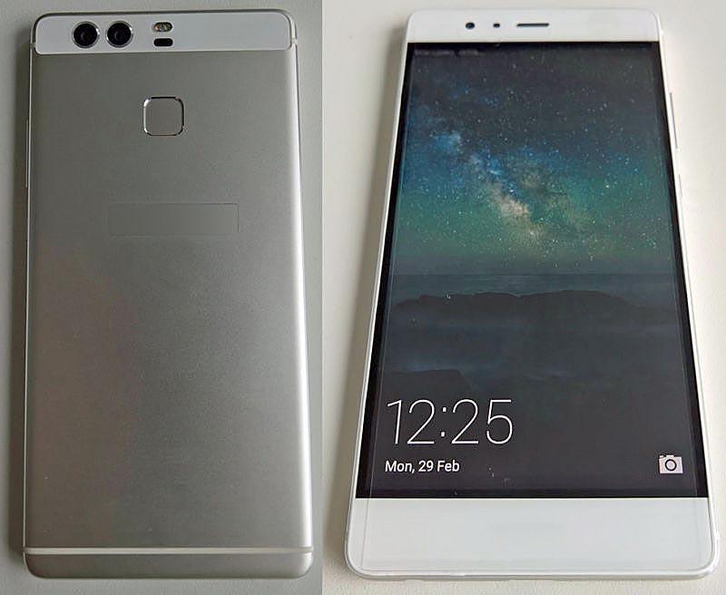 Huawei P9 frontal y trasera