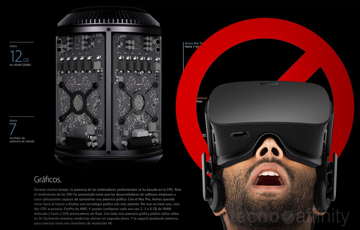 Oculus Rift Macintosh prohibido