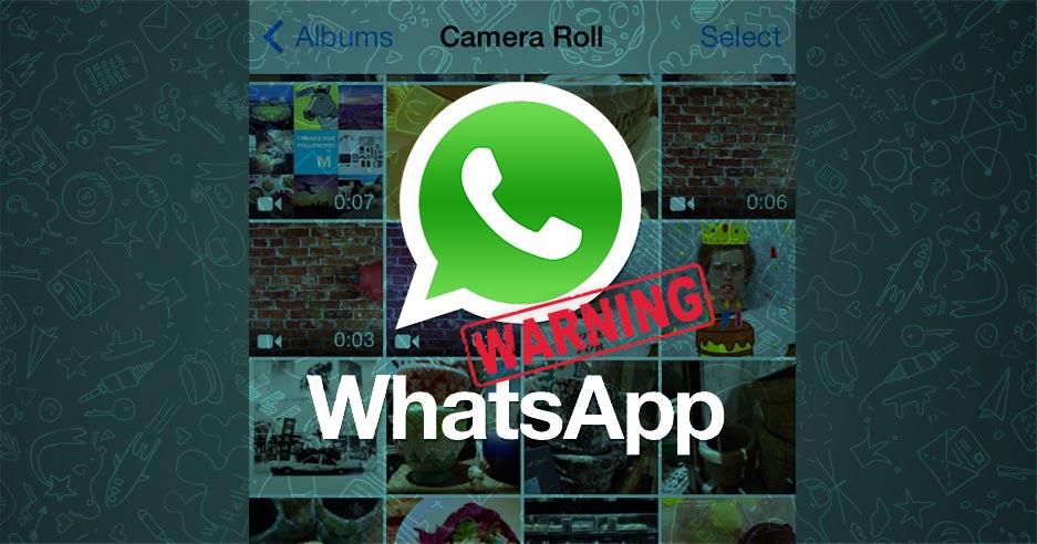WhatsApp fotos aviso