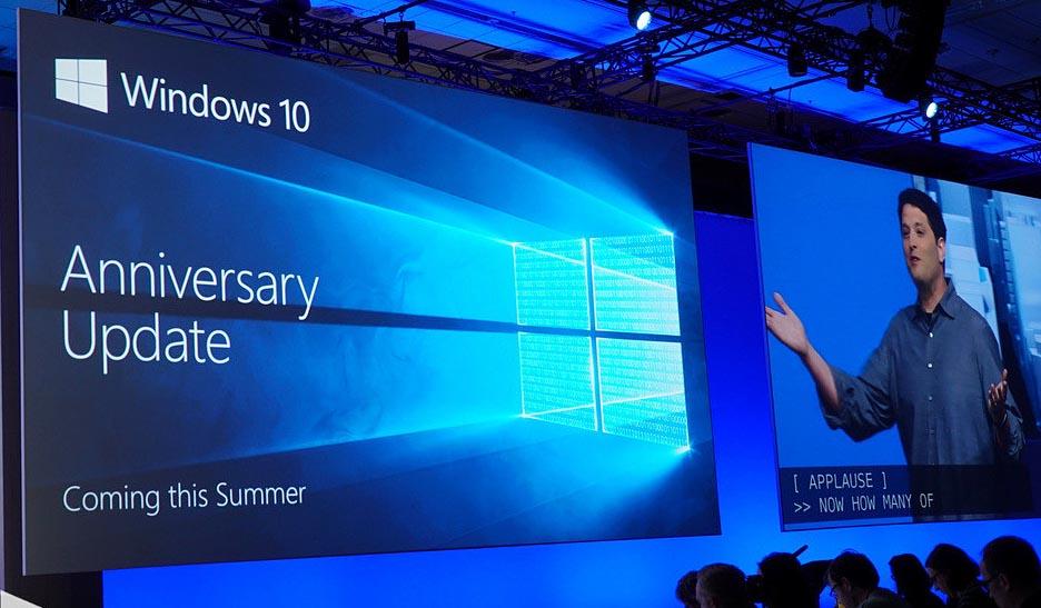 Windows 10 actualización aniversario