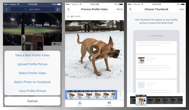 Facebook añade los vídeos de perfil en Android