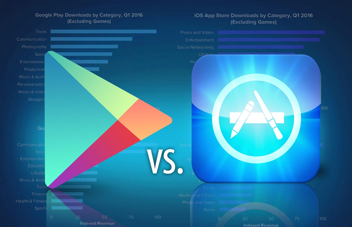 App Store vs Google Play descargas