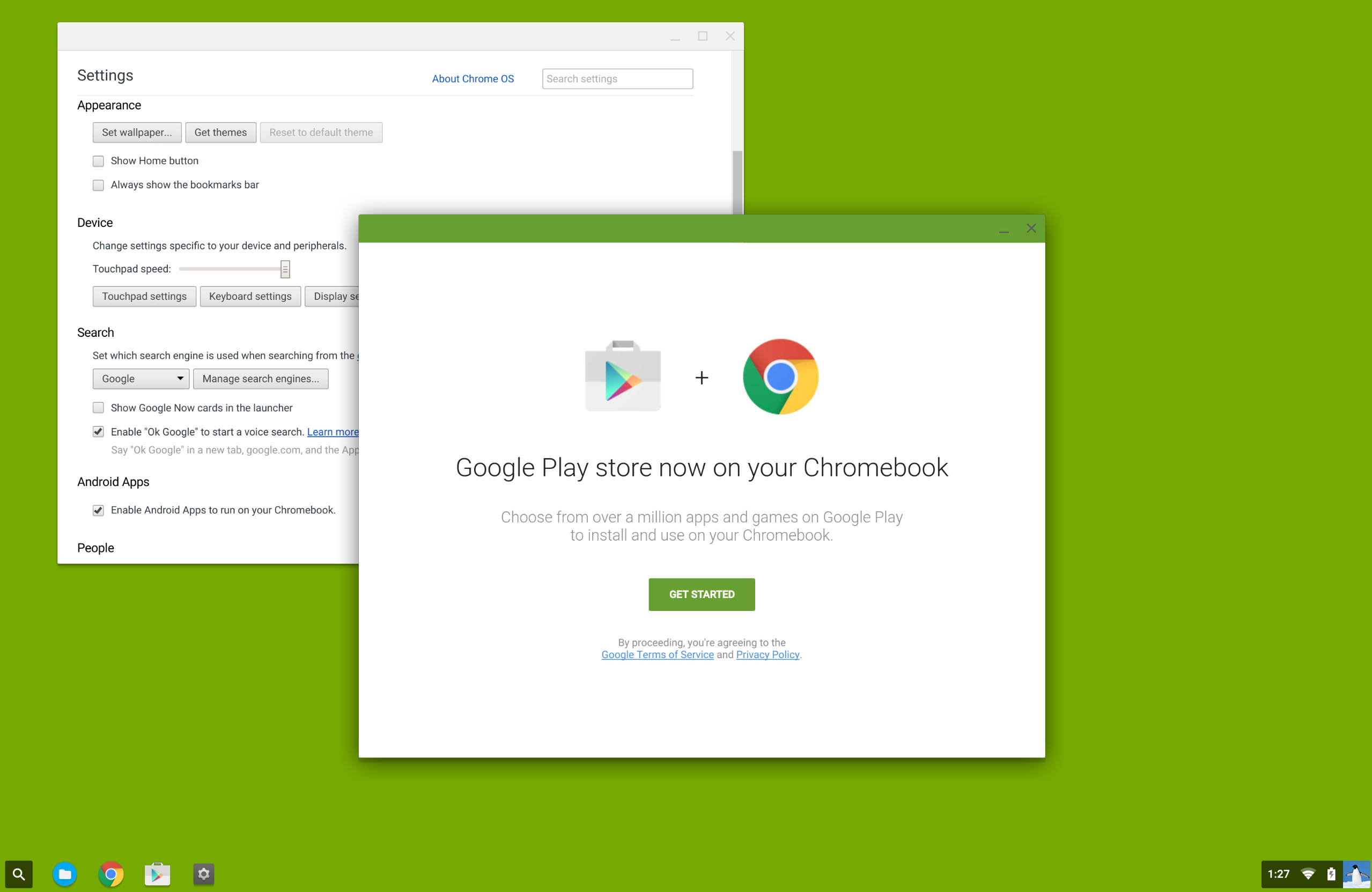 Apps Android Chrome OS