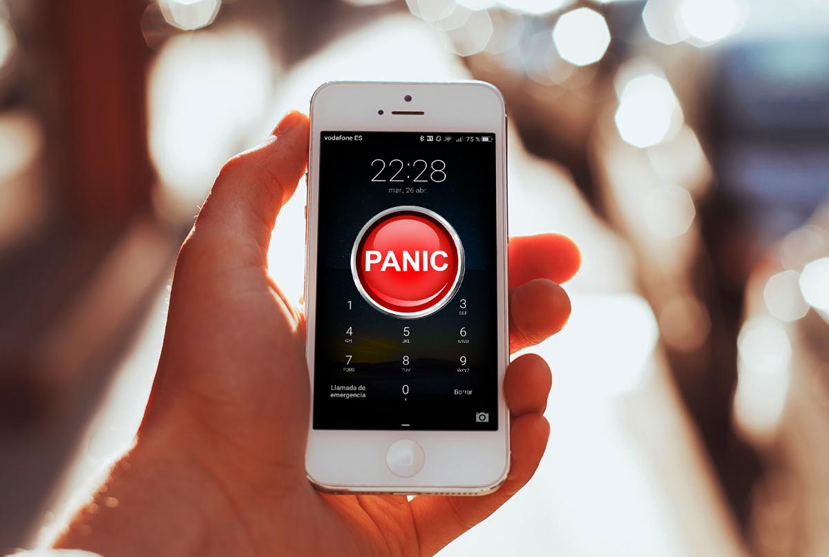 Boton panico smartphone