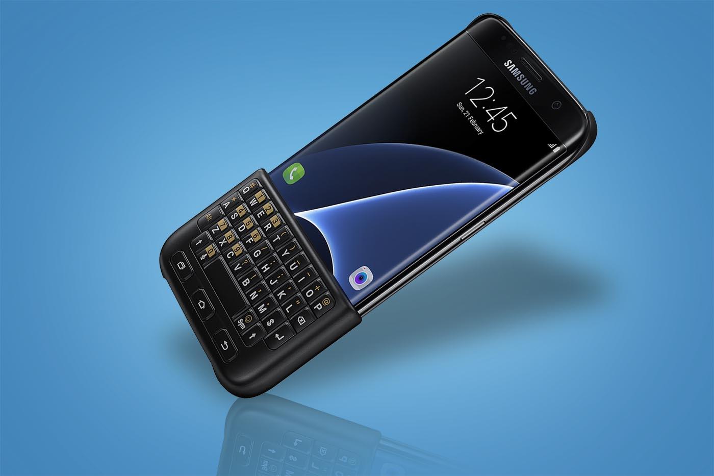 Galaxy S7 Keyboard cover apertura