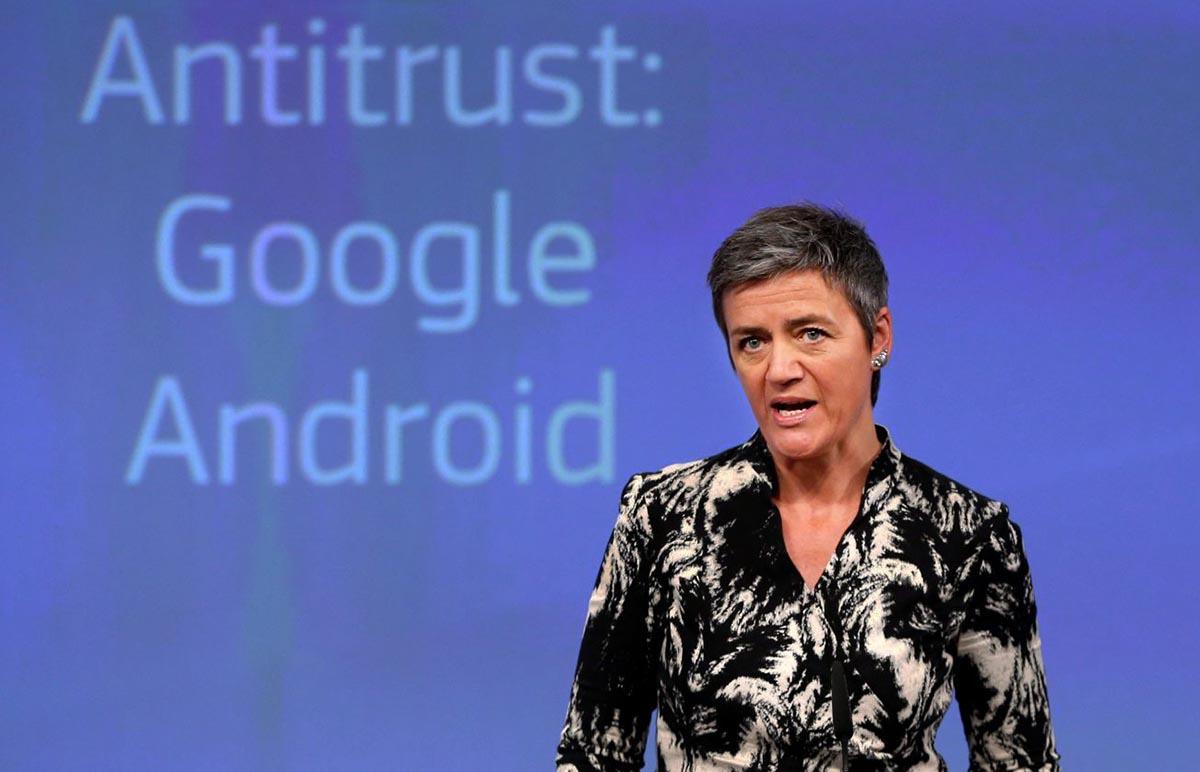 Google podría ser multada de nuevo por la UE, esta vez por el abuso de posición con su sistema Android