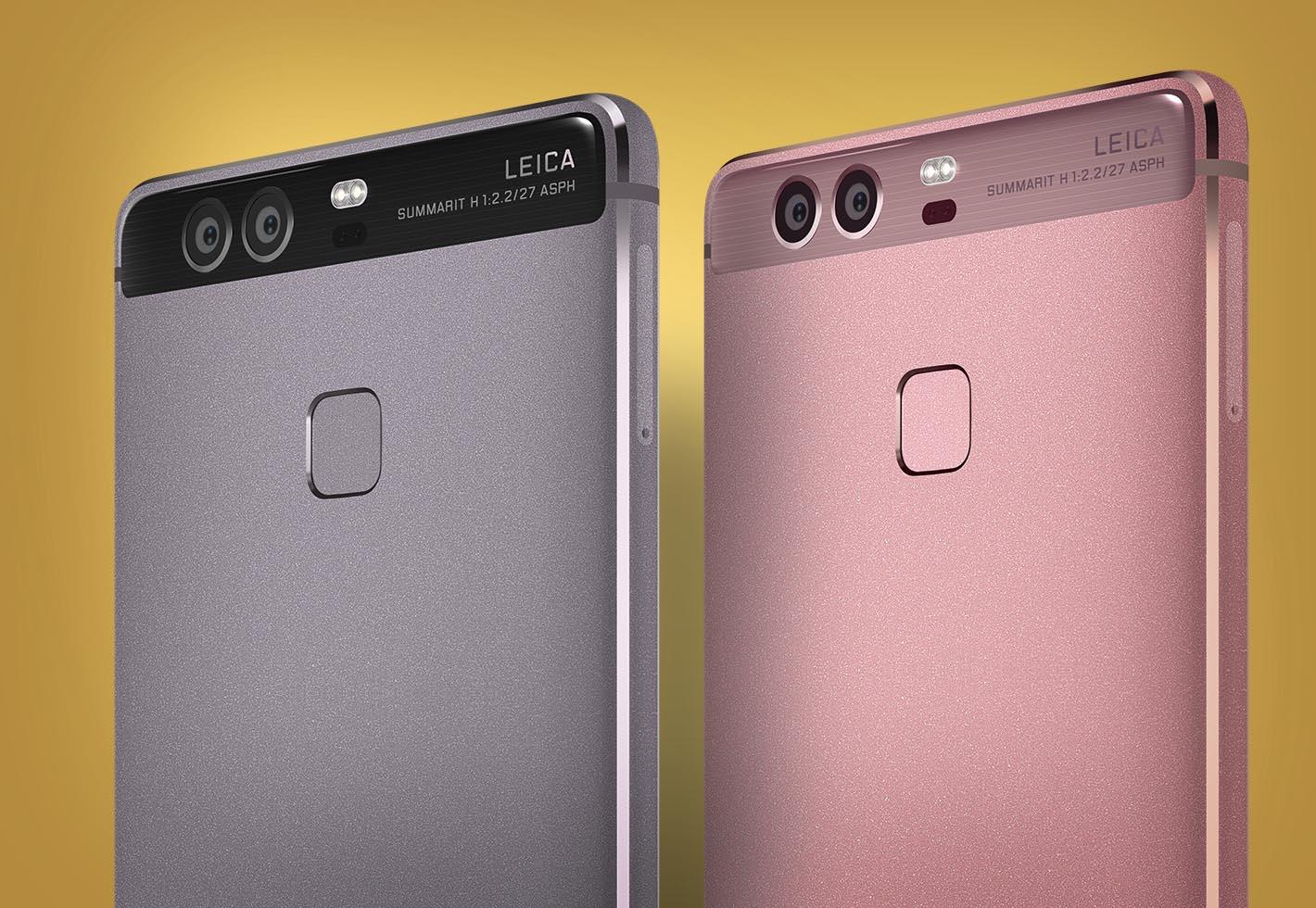 Huawei P9 gris y rosa
