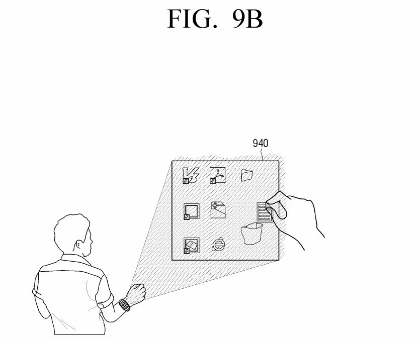 Samsung-virtual-UI-for-wearables-patent-8
