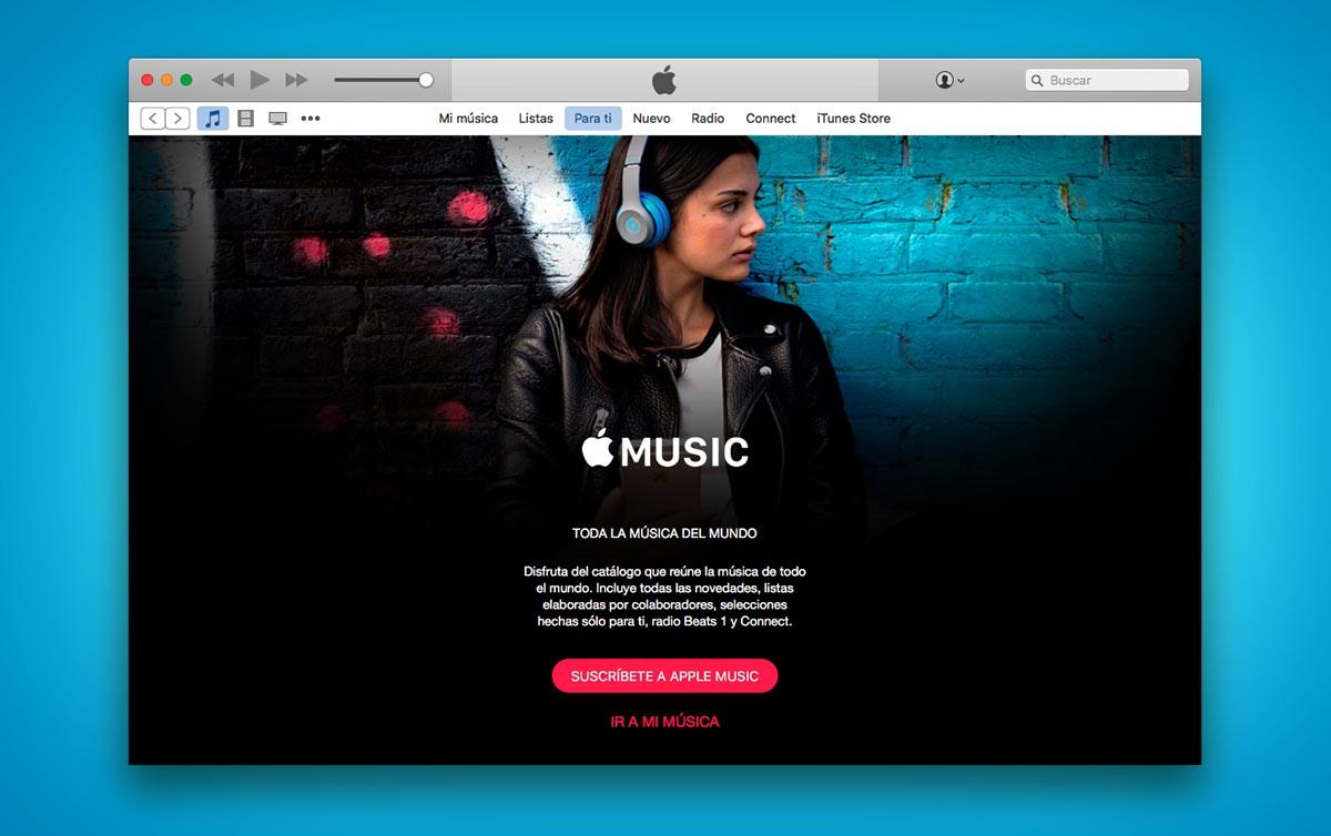 Apple Music Interfaz