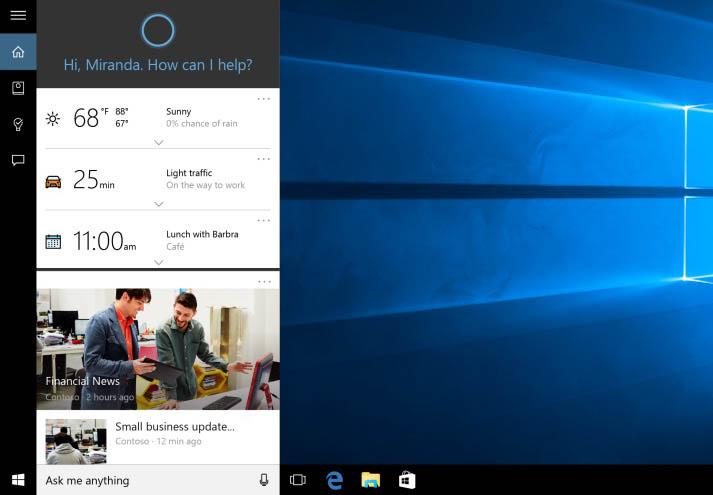 Cortana en Windows 10-Apertura