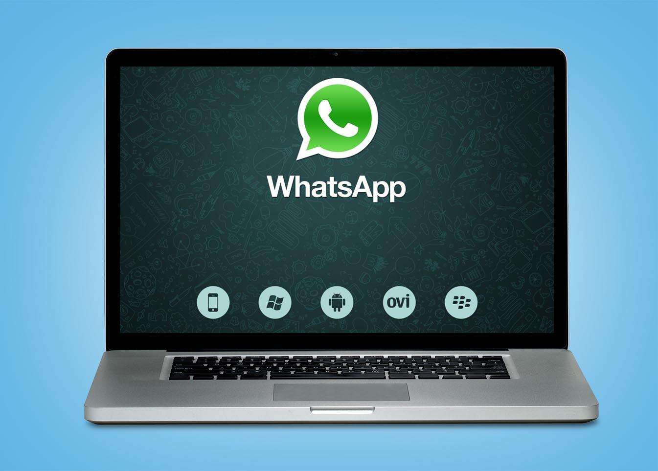 MacBook con WhatsApp