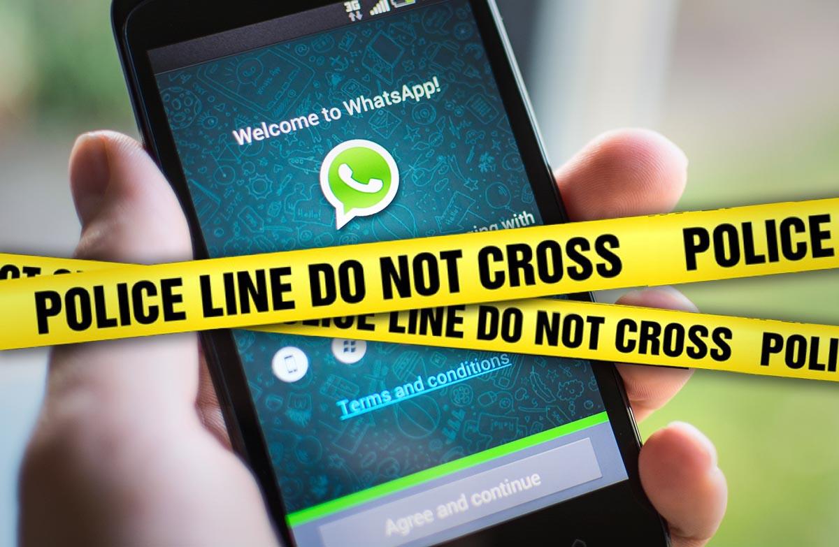 WhatsApp Bloqueado policia