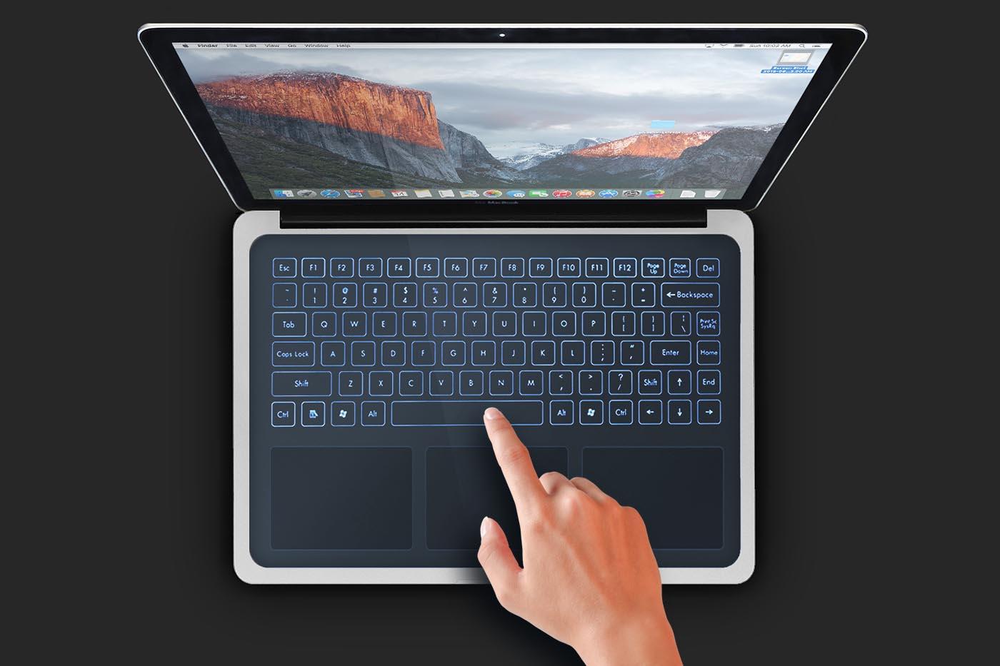 Apple Macbook teclado virtual