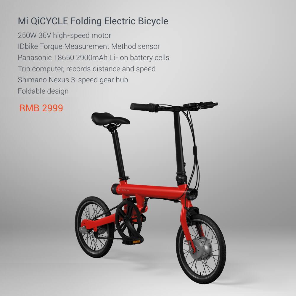 Bicicleta Xiaomi Mi QiCYCLE-02