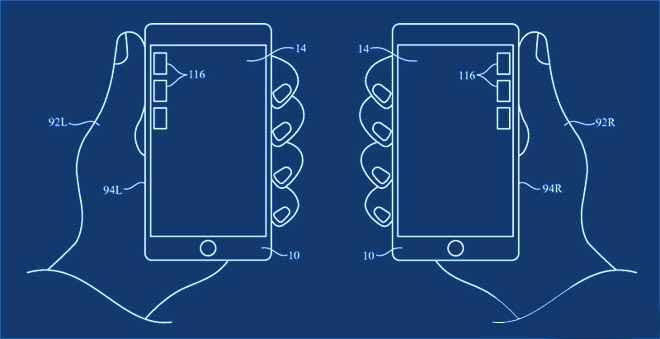 Patente Apple cambio interfaz sujeccion