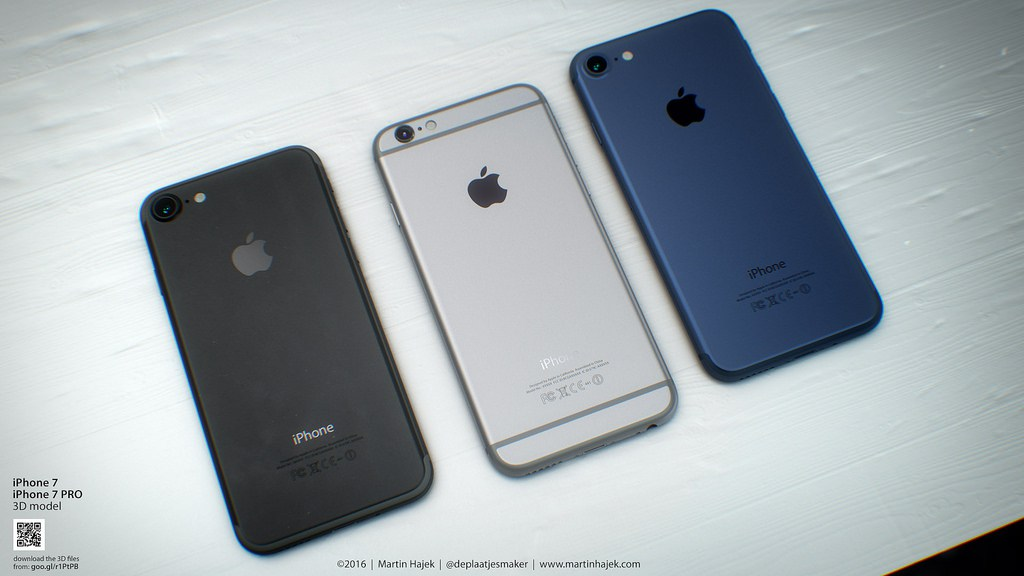 Renders Martin Hajek Deep Blue negro espacial iphone 7-11