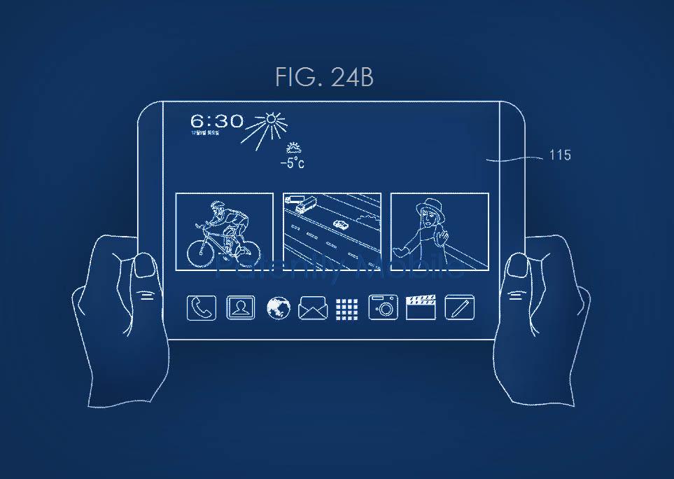 Patente Samsung plegable apertura