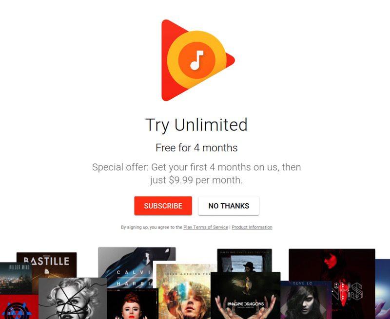 Google Play Music lanza su plan familiar de 15 euros para 6 usuarios